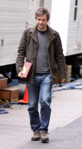 Jack Davenport and Krysta Rodriguez at the set of 'Smash' in NYC