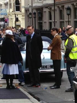 The latest shot of Jack from the set of Breathless, which is currently filming in London.